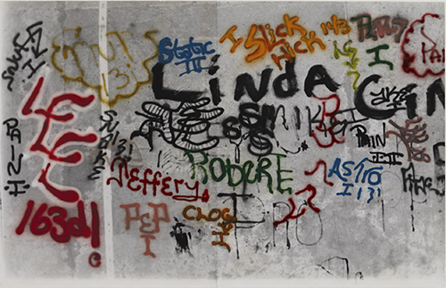  Graffiti: Linda 1973 Gordon Matta-Clark Courtesy The Estate of Gordon Matta-Clark et David Zwirner, New York / Londres / Hong Kong. © 2018 The Estate of Gordon Matta-Clark / ADAGP, Paris